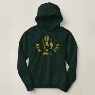 Reel Men Fish Embroidered Hoodie