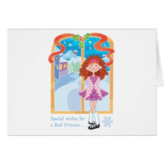 Reel Redhead Princess Christmas Card