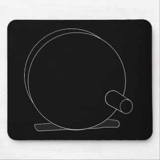 Reel Silhouette (cameo) Mouse Pad