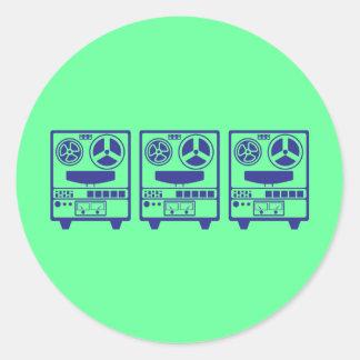 Reel to Reel_3 Round Sticker
