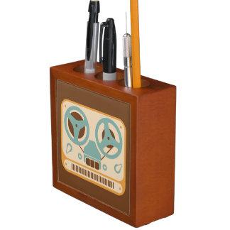 Reel to Reel Analog Tape Recorder Desk Organiser