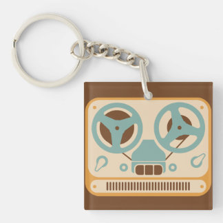 Reel to Reel Analog Tape Recorder Key Ring