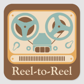 Reel-to-Reel Tape Deck Square Sticker
