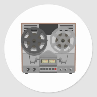 Reel to Reel Tape Player: 3D Model: Classic Round Sticker