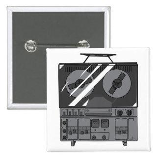 Reel To Reel Tape Recorder Player ~ Vintage 15 Cm Square Badge