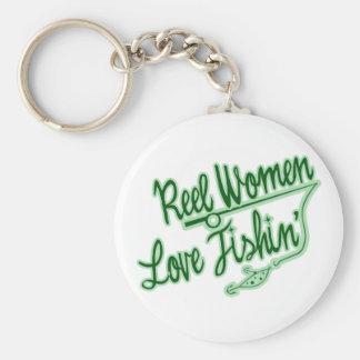 Reel Women Love Fishing womens outdoor Keychains