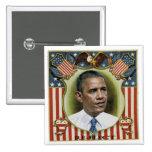 Reelect Obama 15 Cm Square Badge