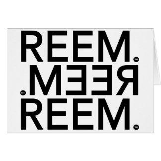 Reem. Card