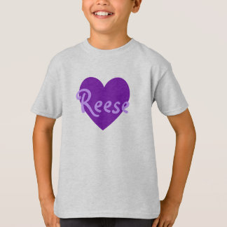 Reese in Purple T-Shirt