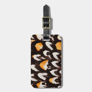 Reeves Pheasant Feather Pattern Luggage Tag