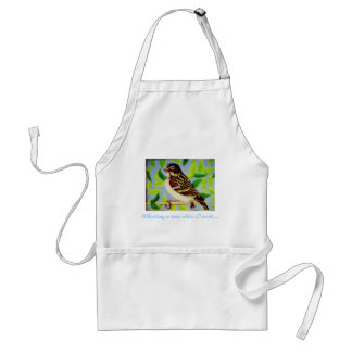Ref_100_0844, Whistling a tune while I work.... Adult Apron