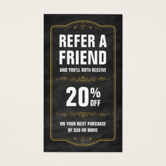 Refer a Friend Chalkboard Bold Referral