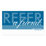refer a friend overlaid business cards