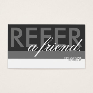 refer a friend overlay business card