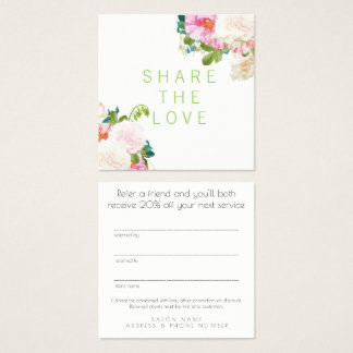 Refer a Friend Referral Salon Client Card Set