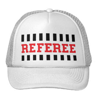 Referee black and red design trucker hat