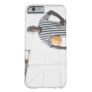 Referee holding basketball on court barely there iPhone 6 case