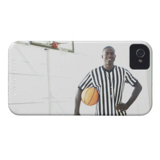 Referee holding basketball on court Case-Mate iPhone 4 cases