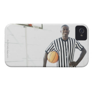 Referee holding basketball on court iPhone 4 Case-Mate case