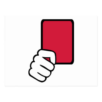 Referee red card postcard
