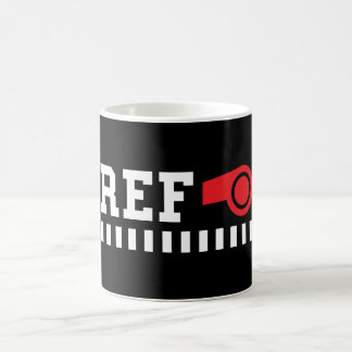 Referee - ref - design with red whistle coffee mug