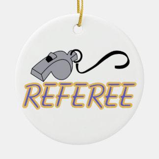 Referee Round Ceramic Decoration