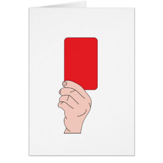 Referee Showing A Red Card Note Cards