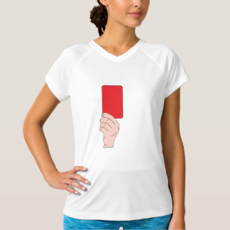 Referee Showing A Red Card Womens Active Tee