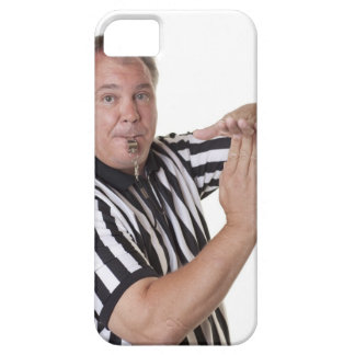 Referee with Time out signal and whistle iPhone 5 Cover