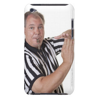 Referee with Time out signal and whistle iPod Case-Mate Case