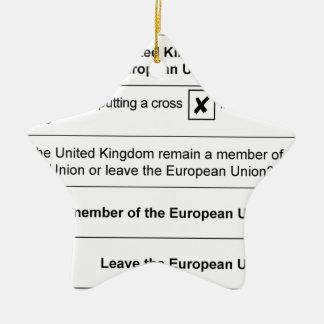 Referendum Remain in EU Ceramic Star Decoration