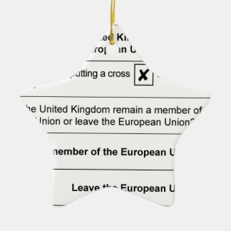 Referendum Remain in EU Christmas Ornament