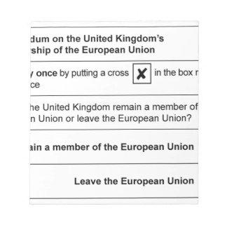 Referendum Remain in EU Notepad