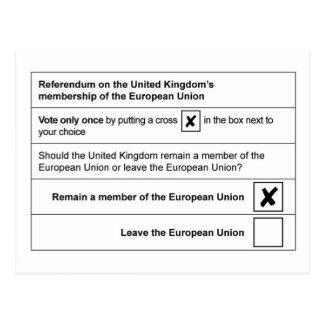 Referendum Remain in EU Postcard