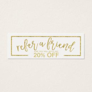 Referral Card   Modern Minimalist Gold Typography