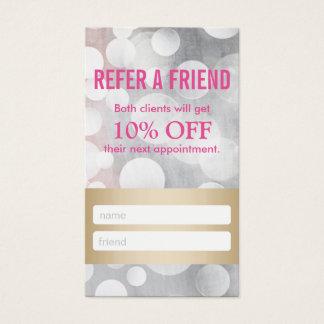 Referral Card | Modern Silver & Gold Hair Stylist