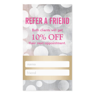 Referral Card | Silver & Gold Eyelash Extensions Pack Of Standard Business Cards