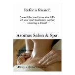 Referral Card with massage hands Pack Of Chubby Business Cards