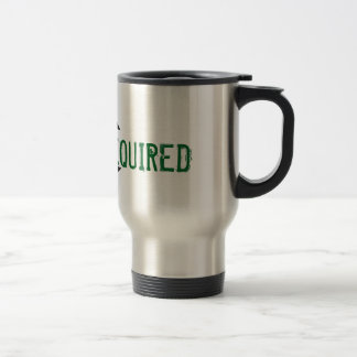 REFILL REQUIRED Black Stylistic Drop Stainless Steel Travel Mug