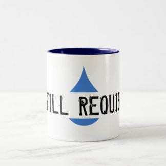 REFILL REQUIRED Blue Stilistic Drop Two-Tone Mug