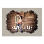 Refined Elegance Photo Save The Date - Khaki Cards