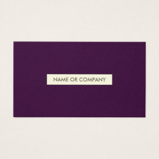 refined plum business card
