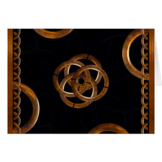 Refined Wood Decorative Background Greeting Cards