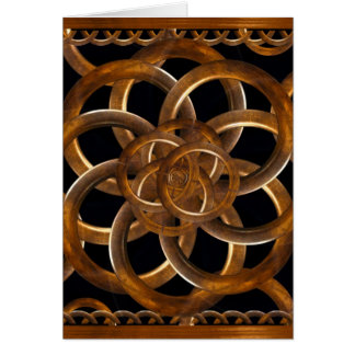 Refined Wood Decorative Background Cards