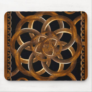Refined Wood Decorative Background Mouse Pads