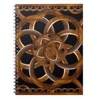 Refined Wood Decorative Background Spiral Notebooks