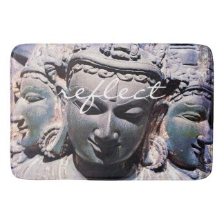 """Reflect"" stone faces statue photo bath mat Bath Mats"