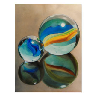 Reflected Marbles Postcard
