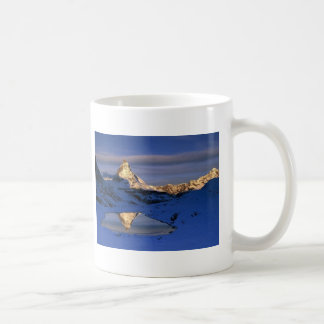 Reflected Matterhorn, Switzerland Basic White Mug