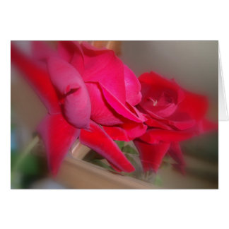 Reflected Rose Card